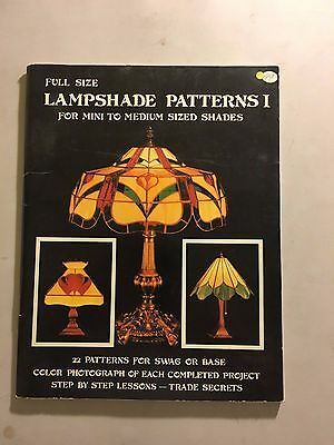 Full Size Lampshade Patterns 1 Mini to Medium Sized Shades Stained Glass