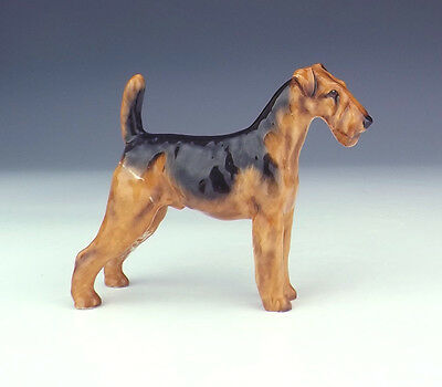 Royal Doulton Hand Painted Airedale Dog Figure - Slight Damage But Lovely!