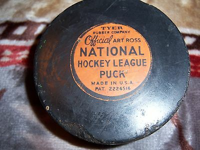 Vintage Art Ross Nhl Puck