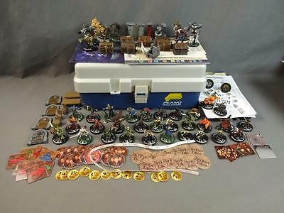 Mage Knight Lot of Approx 61 Miniatures w/ Dice Rules Maps Tokens & More
