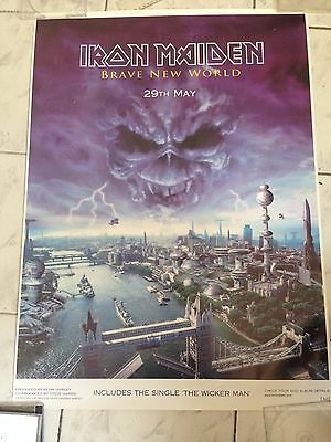 Iron Maiden - Brave New World Limited Edition Promo Poster 2000