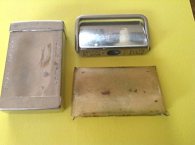 Vintage Rolls Razor Blade Wrapped In Chrome Box
