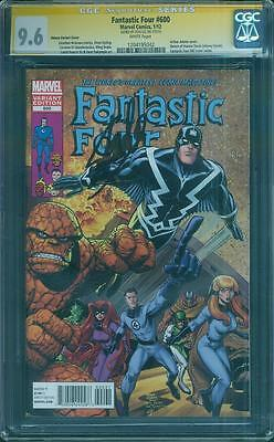 Fantastic Four 600 CGC SS 9.6 Stan Lee Inhumans 82 Cover swipe Adams Variant