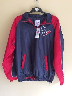 NEW Official NFL Houston Texans American Football Sport Jacket Coat Size Large