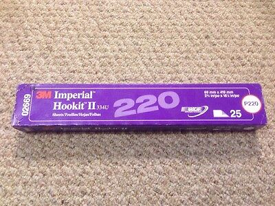 "NEW 3M 02669 IMPERIAL HOOKIT II SHEETS 2-3/4"" INCH x 16-1/2"" INCH P220 GRIT 2669"
