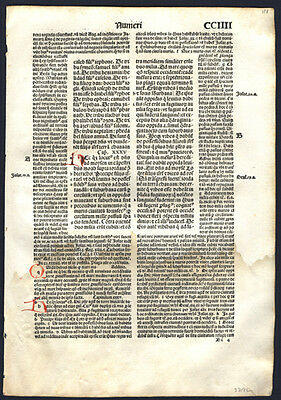 1497 Old Testament Bible Leaf Numbers 35 God Moses & The Children of Israel