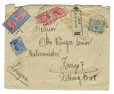 1921 Italy Registered Express Mail Cover (KK69)