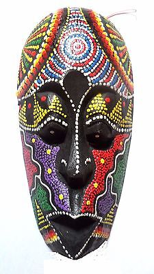 African hand painted mask.Fairtrade.Wall hanging