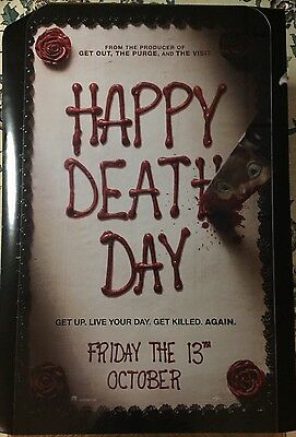 HAPPY DEATH DAY Advanced Rolled 27x40 D/S Movie Poster.