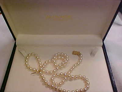 Mikimoto Sea Magic 23'' Pearl Necklace 14K 6.50 to 6.25  case and box