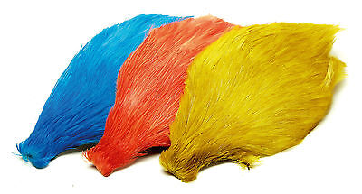 Chinese Neck Cock Cape Assorted Colours Fly Tying Materials  From Veniards