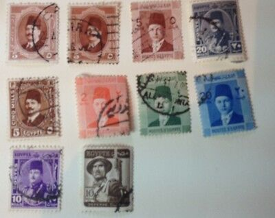 Useful Small Lot: EGYPT. 1930s/40s/50s Used.