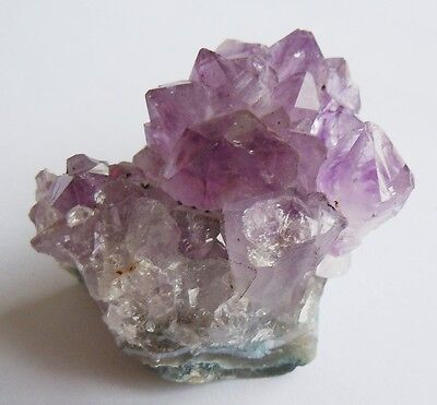 Sparkling Purple Amethyst Cluster Rock Geode with Impressive Natural Crystals