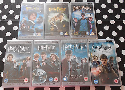 Harry Potter Mixed UMD Video PSP Bundle - Years 1-6 (BNIW) + Year 7 Part 2 (BN)
