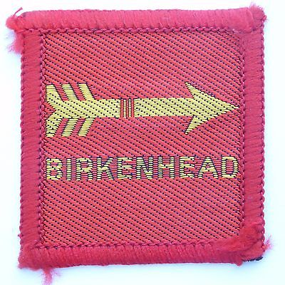 New Vintage Birkenhead District Scout Badge Woven Bound Ref 412