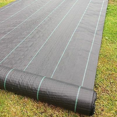 2mx 25m 100g Weed Control Ground Cover Driveway Membrane Fabric Heavy Duty