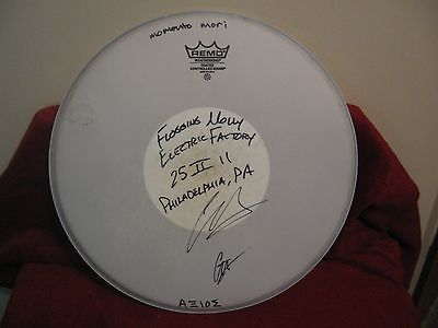 Flogging Molly Band Signed Drumhead
