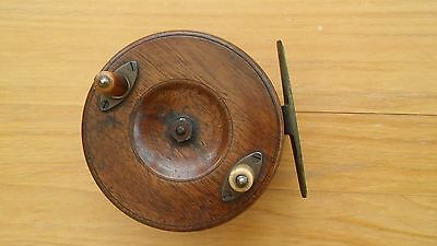 Vintage Wooden Centre Pin Fishing Reel - Attic Find