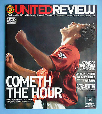 Manchester United v Real Madrid 2002/2003 - champions league quarter final