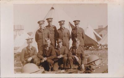 Ww2 Rp Stiffkey Soldiers In T.a Army Military Camp Norfolk 1939 Real Photo
