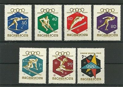 Hungary 1960 Winter Olympic Games set Hinged Mint