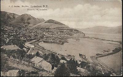 Lyttleton, New Zealand - view - postcard by FT - stamp, local pmk 1910