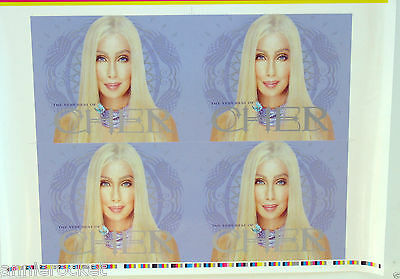 """Cher- """"The Very Best of Cher"""" Printer's Artwork Cover Proof-20"""" x 26""""-NM-2003"""