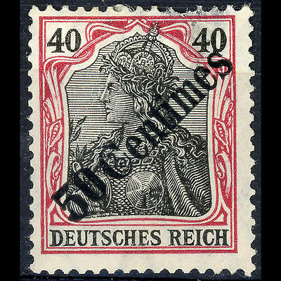 GERMAN PO's in TURKEY 1908 50c on 40pf Black & Red. SG 63 Mint. At Fault (AR321)