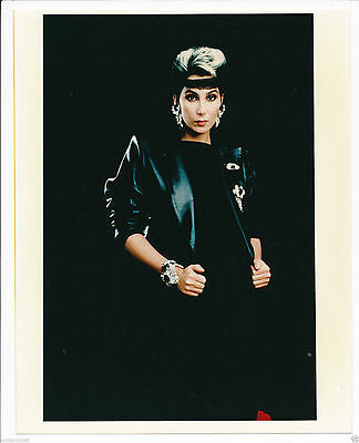 """Cher 8"""" x 10"""" Color Candid Photo from The I Paralyzed Era- #169-1985"""