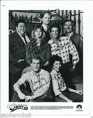 Cast Of Cheers Facsimiles Autographs + Letter From Paramount Pictures-#104-1985