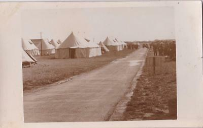 Ww2 Rp Stiffkey Tents On T.a Army Military Camp Norfolk 1939 Real Photo