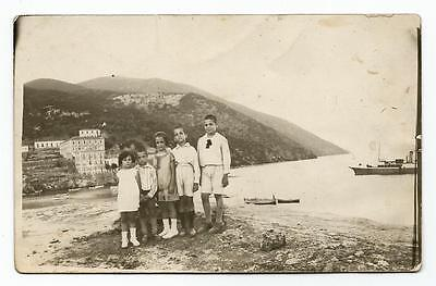 Greece Aidipsos Bains D' Aedipsos Children Posing In Edipsos Old Photo Card