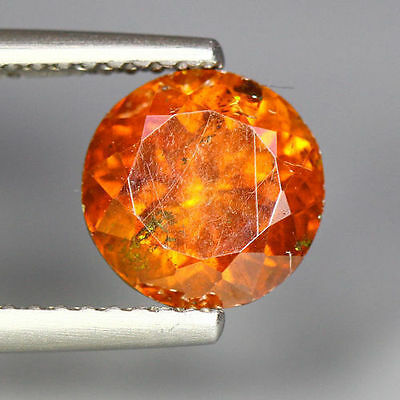 2.97 Cts_Unique Rare Collection_Sun Set Orange_100 % Natural Sphalerite_Round