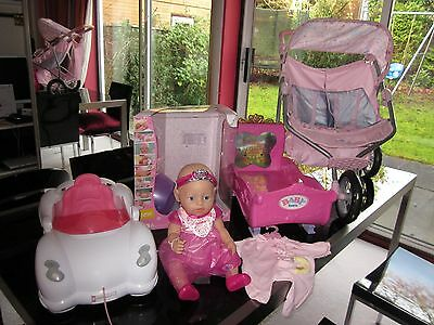 Massive Princess Baby Born/ New Doll/ Double Buggy/ Car/ Bed/ Outfit Rrp £300
