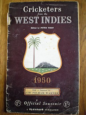 CRICKETERS From the WEST INDIES 1950 Official Tour Souvenir Cricket Memorabilia