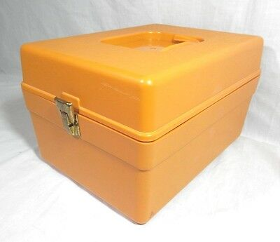 Vintage Wilson Wil-Hold Harvest GOLD Yellow Sewing PATTERN Storage File Box