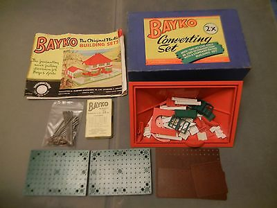 Bayko 2x Converting Set plus Misc Boxed Bayko Assortment ** VERY GOOD COND **
