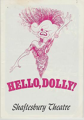 the shaftesbury theatre programme hello dolly carol channing  as dolly