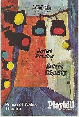 the prince of wales theatre programme sweet charity staring juliet prowes
