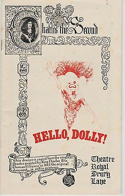 the theatre royal drury lane programme hello dolly carol channing  as dolly