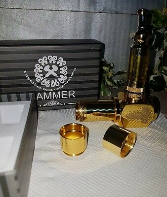 vape mod ( NOT A CLONE ) GENUIN ( SOLID BRASS ) HAMMER MOD AND STAINLESS  TANK.