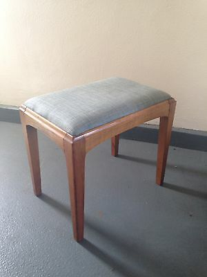 Mid Century Danish Style Vintage 1960s Stool Seat Oak Dressing Table/piano