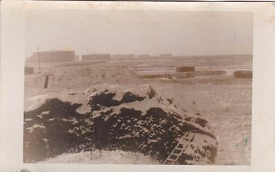 RP ISLE OF GRAIN TRUCK & SOLDIER ARMY MILITARY CAMP GUARDING OIL REFINERY c1940