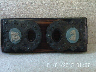 ANTIQUE 19th century Victorian EXTENDABLE BOOK SHELF SLIDE Wedgwood Ends