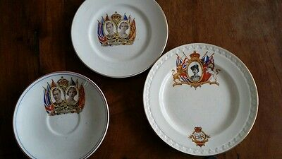 Royal coronation 1937  and 1953 Commemorative plates and saucer