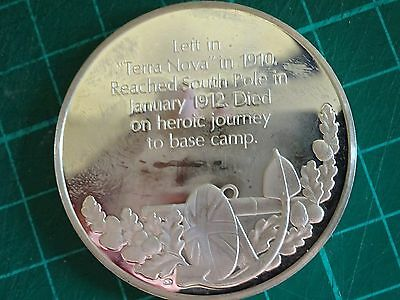 RARE .925 STERLING SILVER Captain Scott Antarctic Expeditions Coin