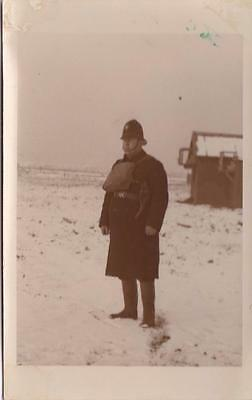 Rp Isle Of Grain Military Camp Local Policeman Guarding Oil Refinery  Kent 1940