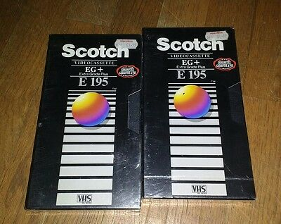 2x scotch vhs video tapes brand new