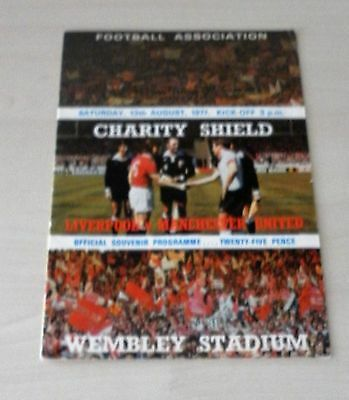 1977 Charity Shield Programme Liverpool FC v Manchester United