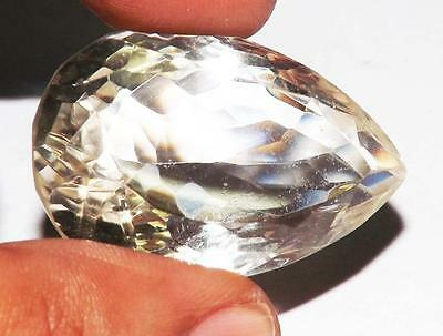 81cts 100% Natural Untreated Earth Mined Crystal Quartz Gem Vsi1 Qlty  #158